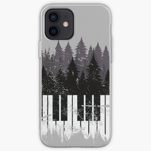Piano Forest Skyline for Piano Players and Piano Teachers iPhone Soft Case