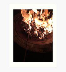 Firey Place   Art Print