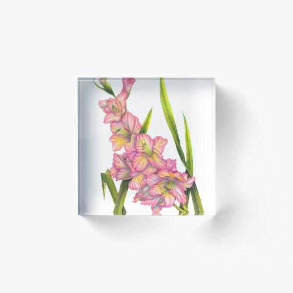 Gladiolus Acrylic Block