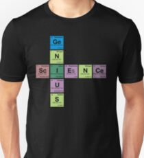 SCIENCE GENIUS! Periodic Table Scrabble Unisex T-Shirt