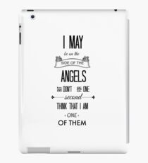 Sherlock - I May Be on the Side of the Angels iPad Case/Skin
