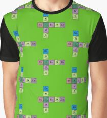 SCIENCE GENIUS! Periodic Table Scrabble Graphic T-Shirt