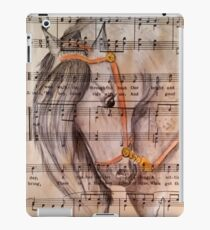 Grey Dapple Horse on Music  iPad Case/Skin