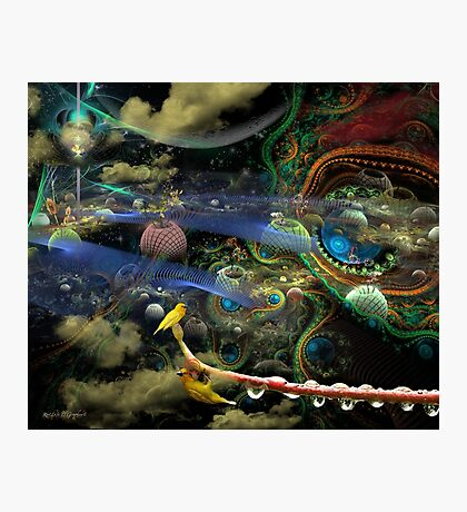 The History of the Bioluminoidal Fractalization Process Photographic Print