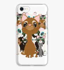 Herd of cats  iPhone Case/Skin