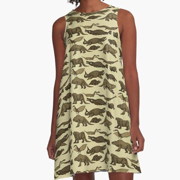 Dinosaurs of Crystal Palace A-Line Dress