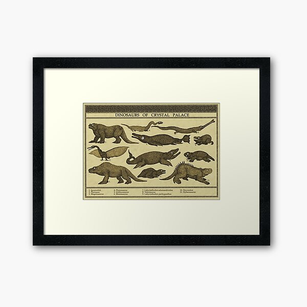 Dinosaurs of Crystal Palace Framed Art Print