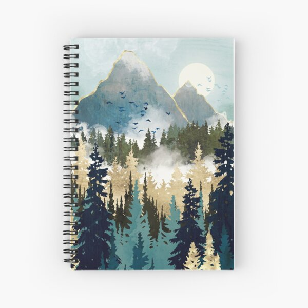 Misty Pines Spiral Notebook