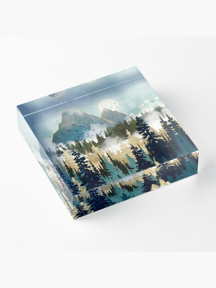 Alternate view of Misty Pines Acrylic Block