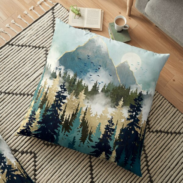 Misty Pines Floor Pillow
