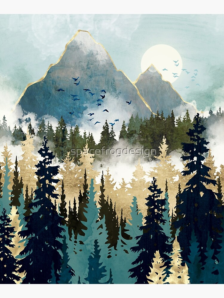 Misty Pines by spacefrogdesign
