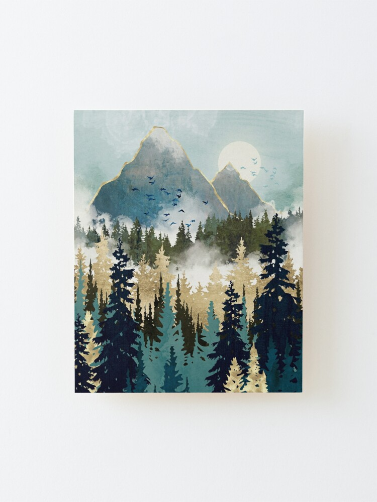 Alternate view of Misty Pines Mounted Print