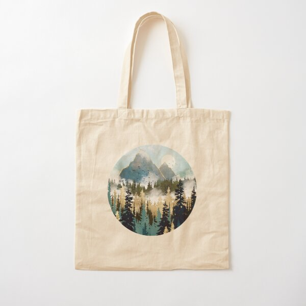 Misty Pines Cotton Tote Bag
