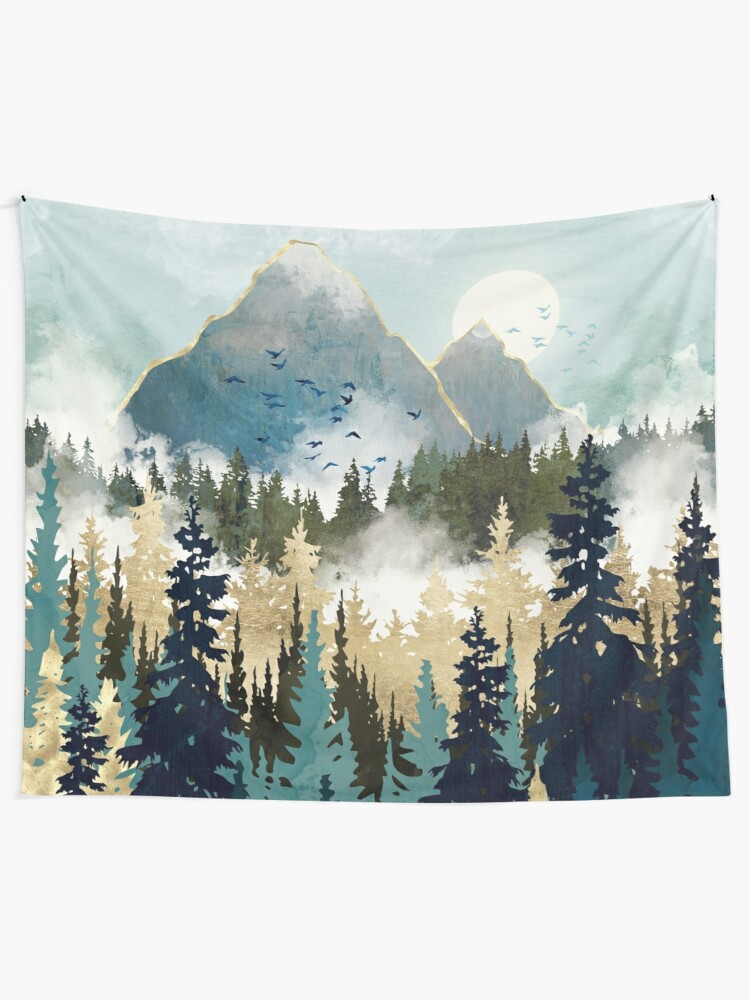 Alternate view of Misty Pines Tapestry