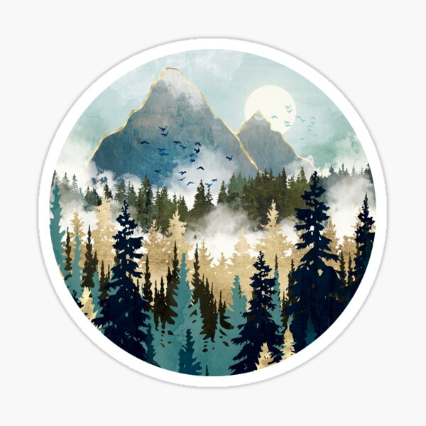 Misty Pines Sticker