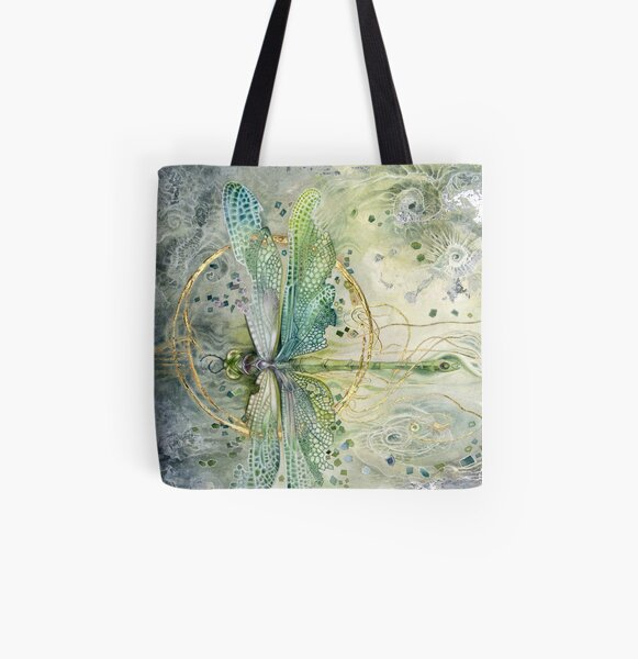Beautiful Enchanted Dragonfly  All Over Print Tote Bag