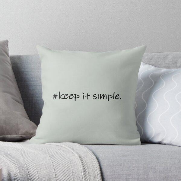 Diseño Keep it simple hashtag Cojín