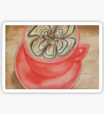Coffee Cuppacino Cup Watercolor Painting  Sticker