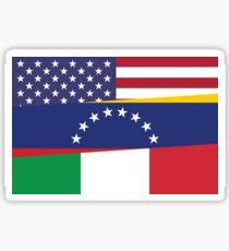 USA/VEN/ITA Tri-Flag Sticker