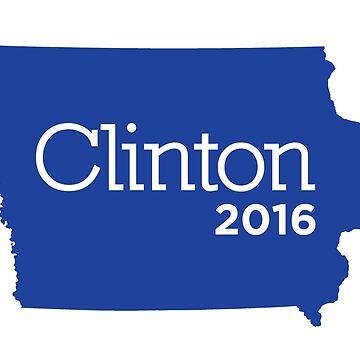 Hillary Clinton 2016 State Pride - Iowa by unitedinthreads