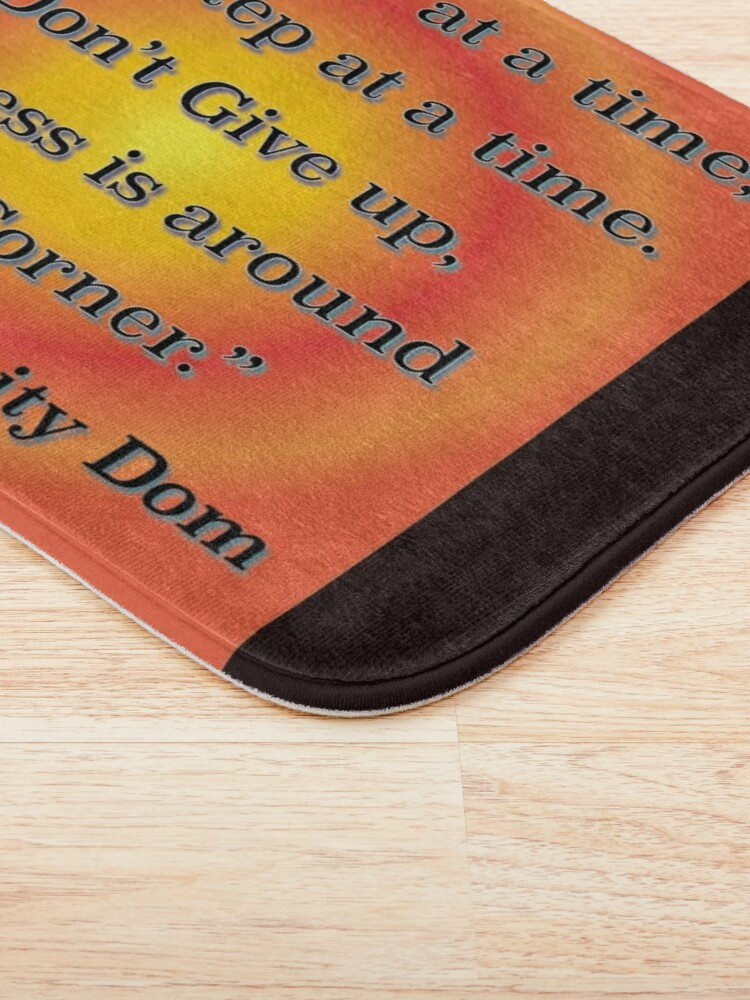 Alternate view of One Day At A Time Bath Mat