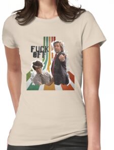Douglas Denholm and Maurice Moss - F Off Womens Fitted T-Shirt