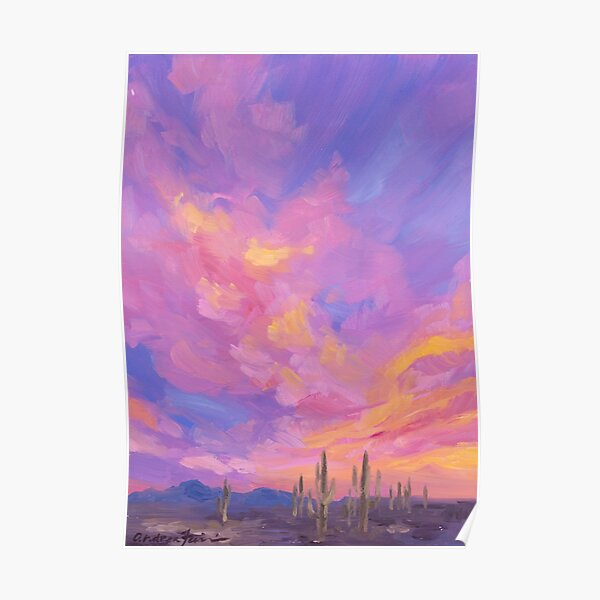 Saguaro Magic Hour Poster