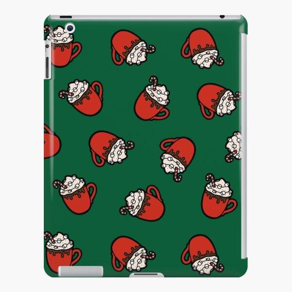 Festive Hot Cocoa Pattern in Green iPad Snap Case