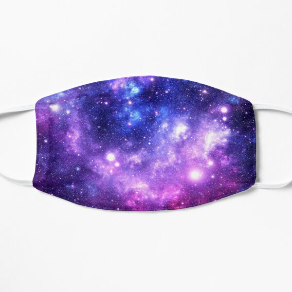 Purple Blue Galaxy Nebula Flat Mask