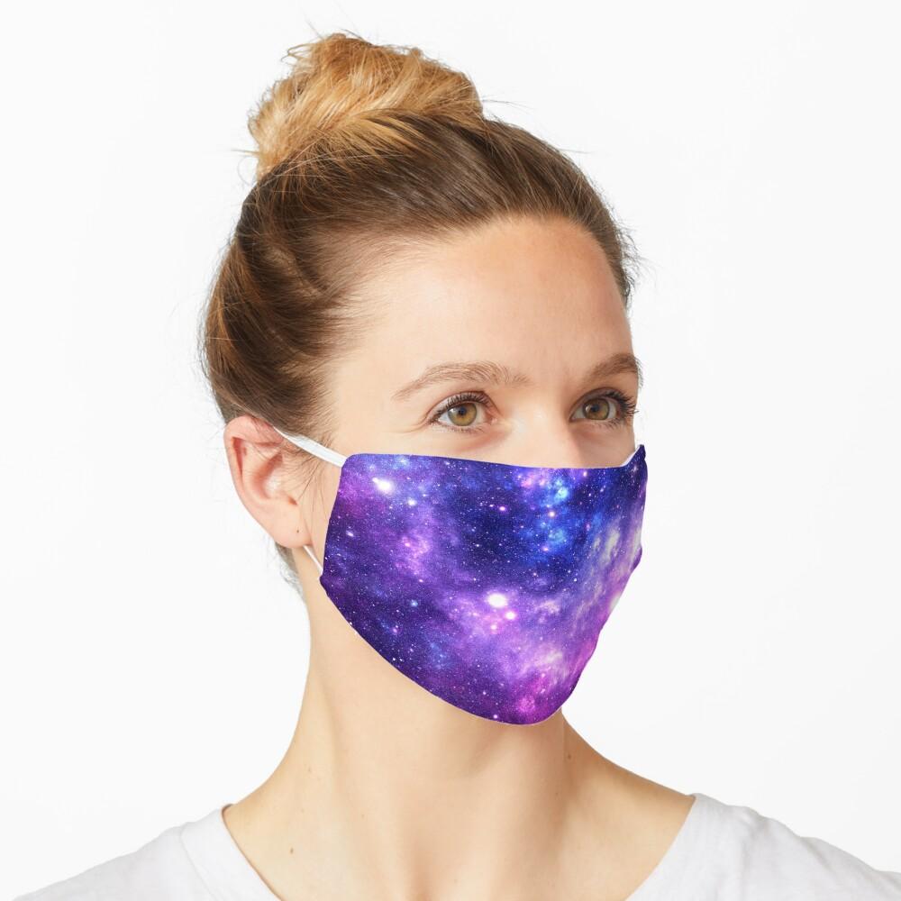 Purple Blue Galaxy Nebula Mask