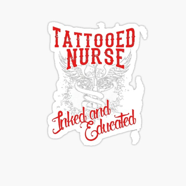 tattooed nurse Sticker