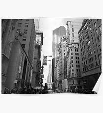 New York City Manhattan Grayscale Photograph Poster