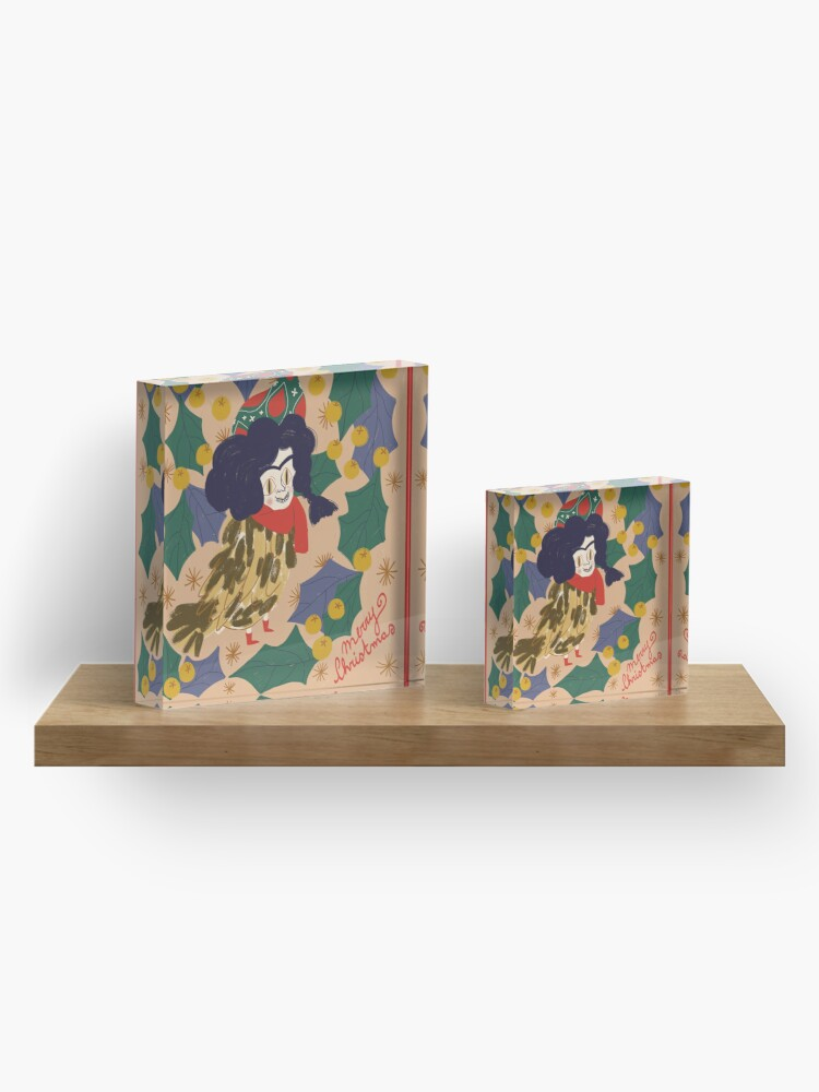 Alternate view of Little Harpy Merry Christmas Acrylic Block