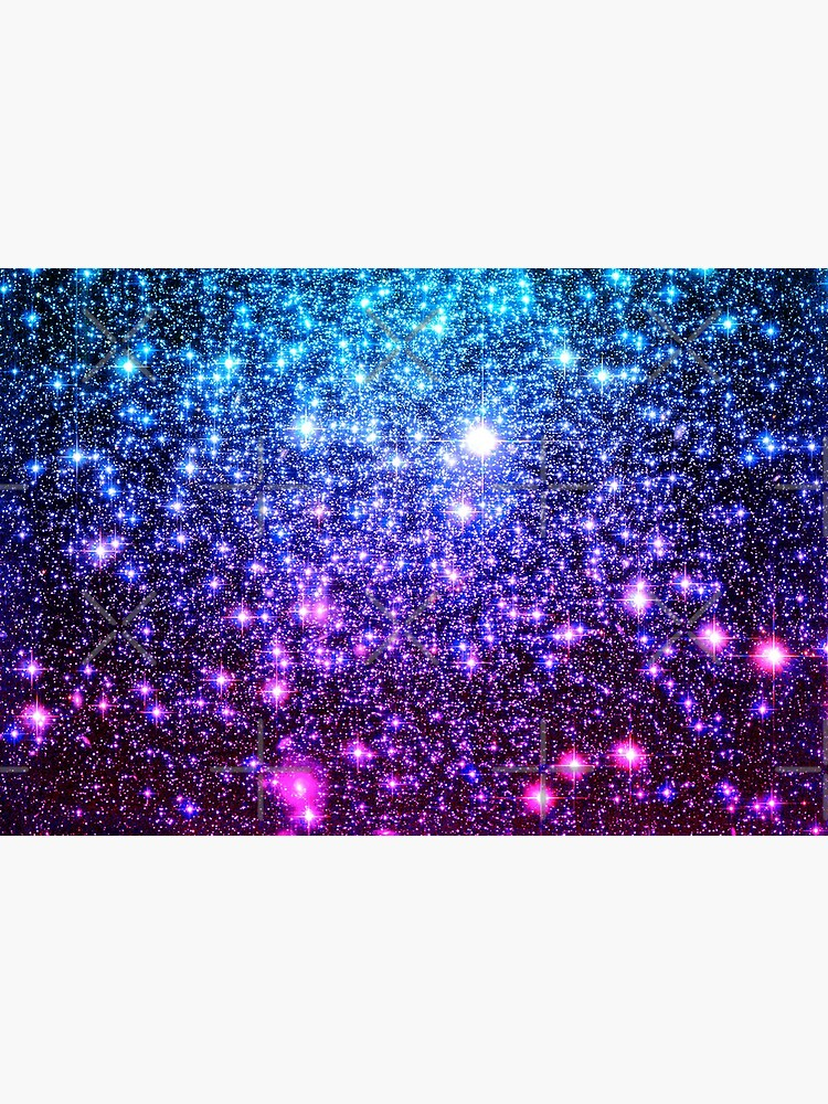 Galaxy Sparkle Stars Turquoise Blue Purple Hot Pink by 2sweetsDesign
