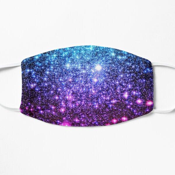 Galaxy Sparkle Stars Turquoise Blue Purple Hot Pink Flat Mask