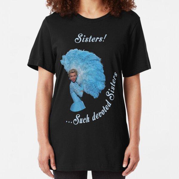 White Christmas Sisters-2 Slim Fit T-Shirt