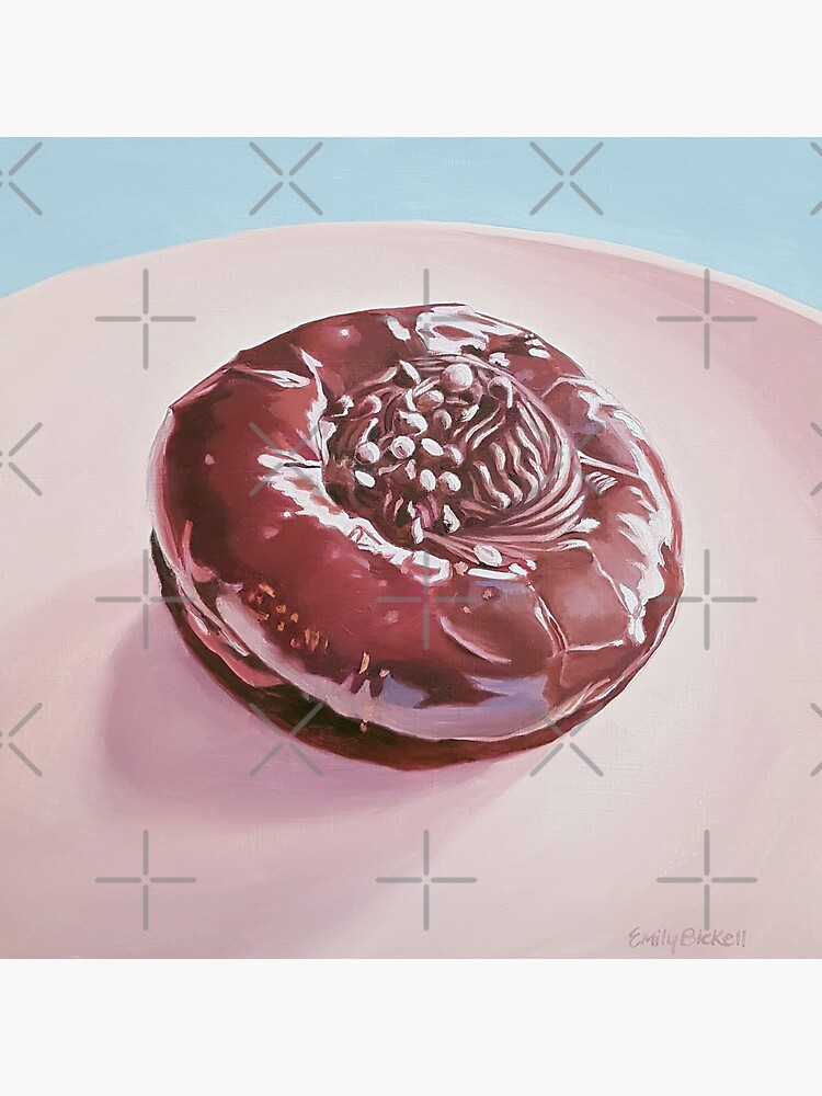 Chocolate Swirl Donut painting  by EmilyBickell