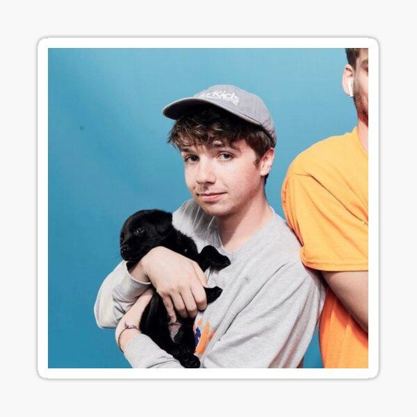 Karl holding puppy  Sticker