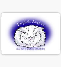 English Angora- yes there's a rabbit in there! Sticker