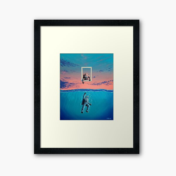 Fenster der Möglichkeit Gerahmter Kunstdruck