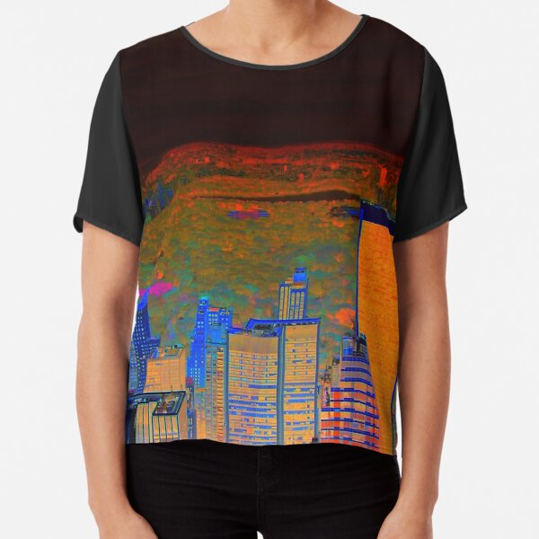 View Central Park New York 2 Chiffon Top