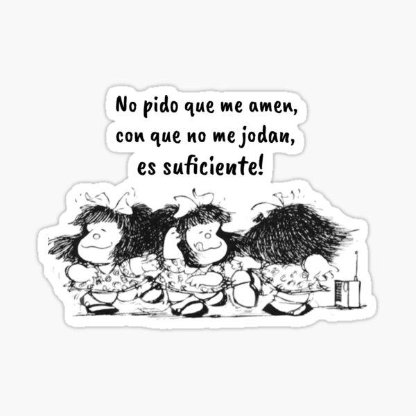 Citas españolas y cómics de Mafalda Pegatina