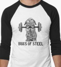 Buns of Steel (Light) Men's Baseball ¾ T-Shirt