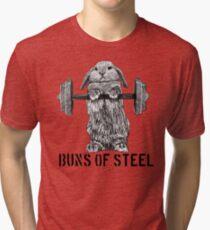 Buns of Steel (Light) Tri-blend T-Shirt