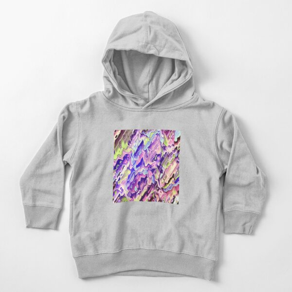 Colorful Acrylic Abstract Art Toddler Pullover Hoodie