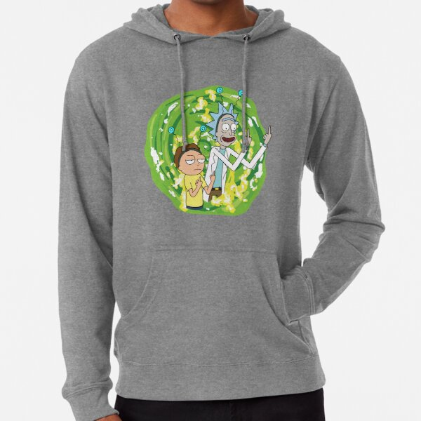 Rick and morty middle finger Lightweight Hoodie