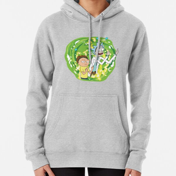 Rick and morty middle finger Pullover Hoodie