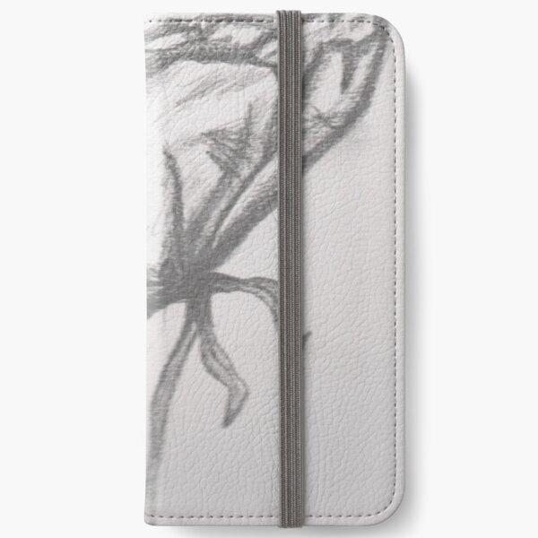 Pencil art flower iPhone Wallet