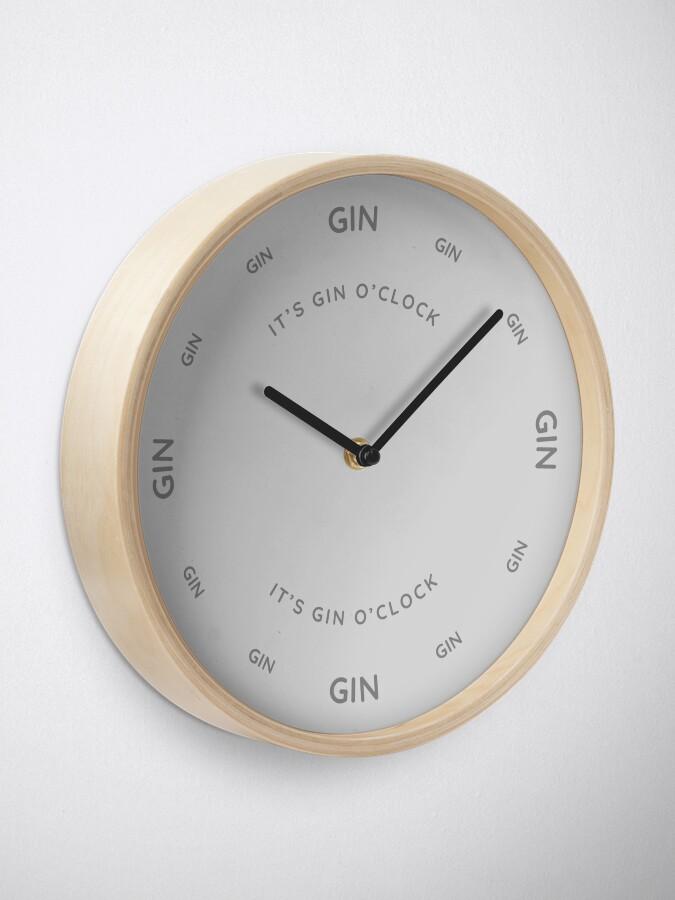 Alternate view of It's Gin O'Clock Grey Clock