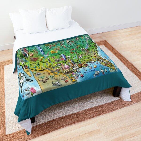 USA Fun Map Comforter
